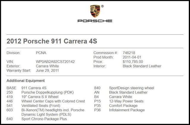 2012 Porsche 911 Carrera 4S-[ 2 ]