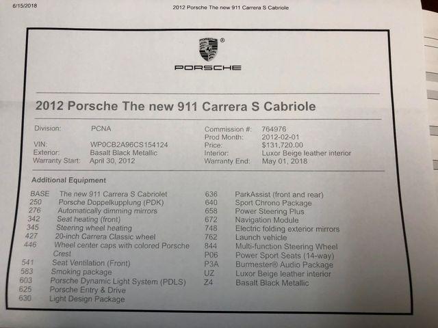 2012 Porsche 911 991 Carrera S Longwood, FL 50