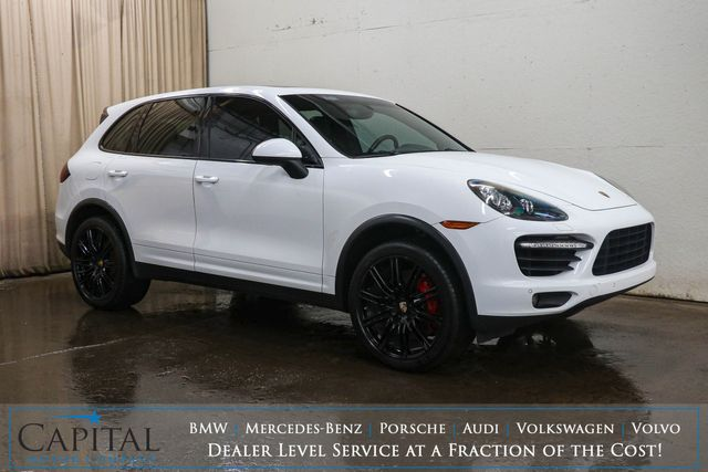 "2012 Porsche Cayenne Turbo AWD Executive SUV w/Blacked Out 21"" Wheels, Heated/Cooled Seats & Burmester Audio"