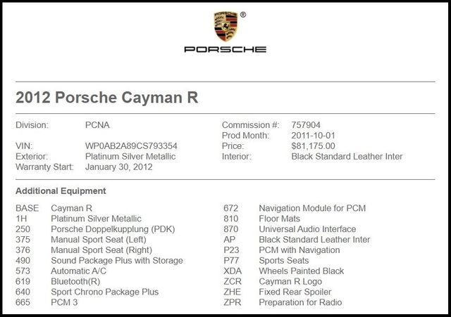 2012 Porsche Cayman in Carrollton TX