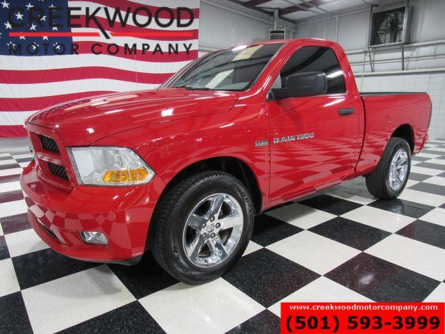 2012 Ram 1500 Dodge Express 4x4 Red Hemi Regular Cab Chrome 20s CLEAN