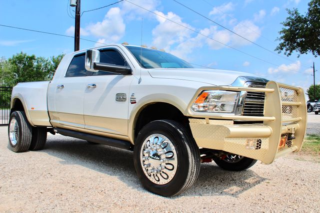 2012 Ram 3500 DRW Longhorn Laramie Mega Cab 4X4 6.7L Cummins Diesel Auto Loaded Lifted Sealy, Texas