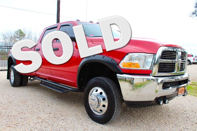 2012 Ram 3500 ST Crew Cab 4x4 6.7L Cummins Diesel 6 Speed Manual LOW MILES Sealy, Texas