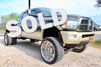 2012 Ram 3500 Laramie Longhorn Mega Cab 4x4 6.7L Cummins Diesel Dually LIFTED LOADED Sealy, Texas
