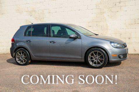 2012 Volkswagen Golf TDI Clean Diesel w/6-Speed Manual, NAV Heated Seats, Moonroof & Bluetooth Audio in Eau Claire