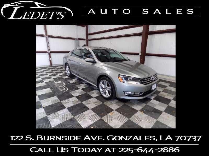 2012 Volkswagen Passat TDI SEL Premium - Ledet's Auto Sales Gonzales_state_zip in Gonzales Louisiana