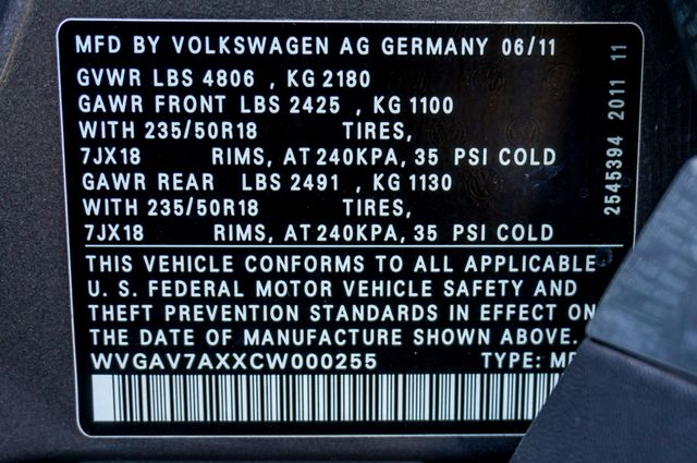 2012 Volkswagen Tiguan SE w/Sunroof  Nav Reseda, CA 40