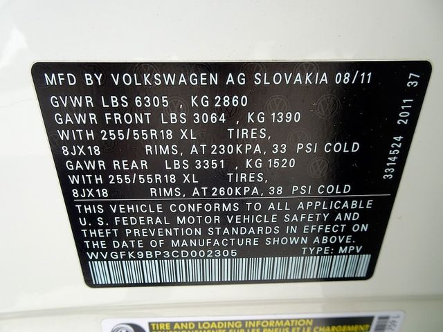 2012 Volkswagen Touareg Sport w/Nav Madison, NC 50