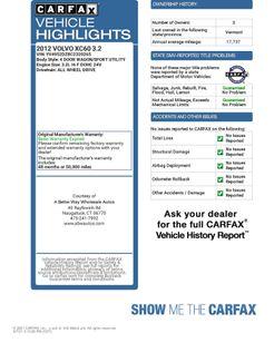 2012 Volvo XC60 3.2L Naugatuck, Connecticut 1