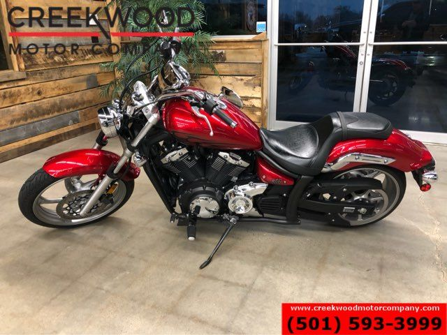2012 Yamaha Stryker Raven Cruiser 2-Wheeler Motorcycle Bike Red Low Miles in Searcy, AR 72143