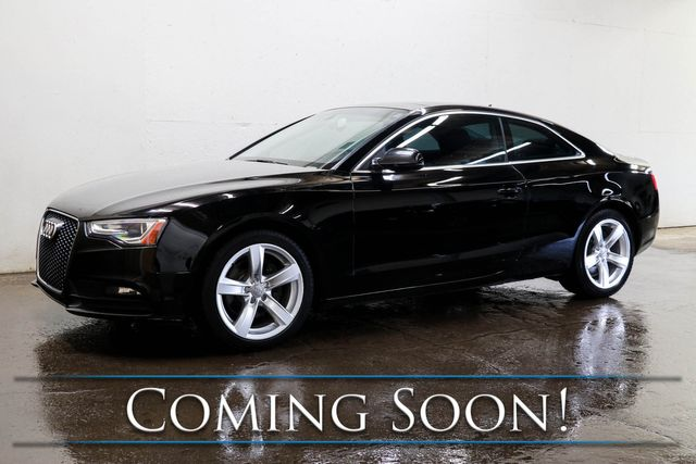 "2013 Audi A5 Premium Plus 2.0T Quattro AWD Coupe w/Nav, Backup Cam, Panoramic Roof, Heated Seats, 18"" Rims"