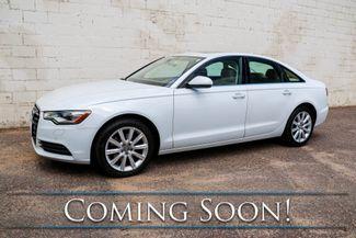 2013 Audi A6 Premium Plus Quattro AWD Luxury-Sport Sedan w/Nav, Heated Seats, Moonroof & 10 Speaker Audio in Eau Claire, Wisconsin 54703