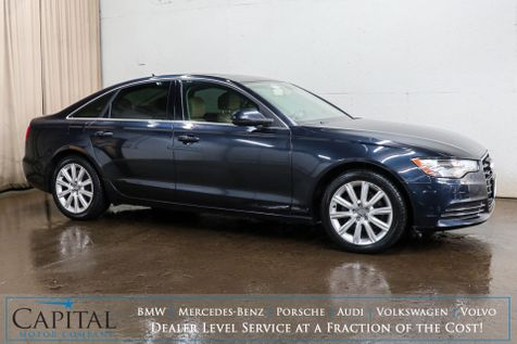 2013 Audi A6 Premium Plus Quattro AWD Luxury Sedan w/Nav, Backup Cam, Heated Seats, Keyless Start & BOSE in Eau Claire