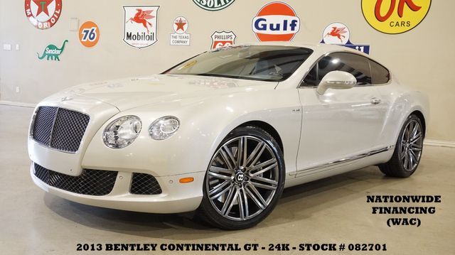 2013 Bentley Continental GT Speed MSRP 239K,NAV,NAIM SYS,HTD/COOL LTH,21'S,24K