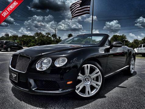 2013 Bentley Continental GT V8 GTC BELUGA/BELUGA CARFAX CERT SERVICED in Plant City, Florida