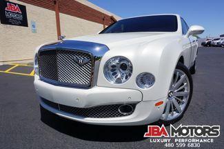 2013 Bentley Mulsanne Mulliner Pkg Rear DVD Pearl Ghost White $382k MSRP   MESA, AZ   JBA MOTORS in Mesa AZ