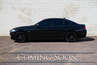 2013 BMW 528xi xDrive AWD Luxury Car w/Blacked Out Rims, Nav, Cold Weather Pkg, Moonroof & 2-Tone Interior in Eau Claire, Wisconsin 54703