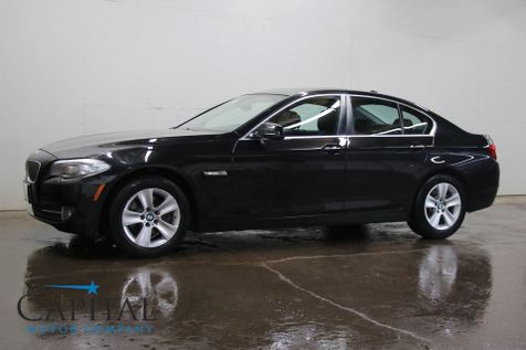2013 BMW 528xi xDrive AWD w/Navigation, Heated Steering Wheel, Heated Seats, Moonroof & Bluetooth in Eau Claire