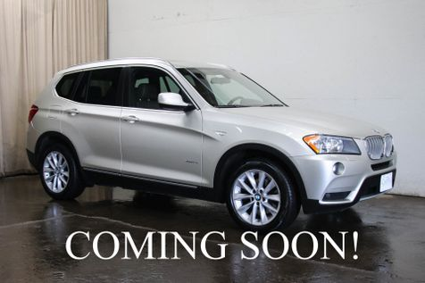 2013 BMW X3 xDrive AWD with Heated Seats, Backup Cam, Panoramic Roof, 2-Tone Mojave Interior & Tow Pkg in Eau Claire