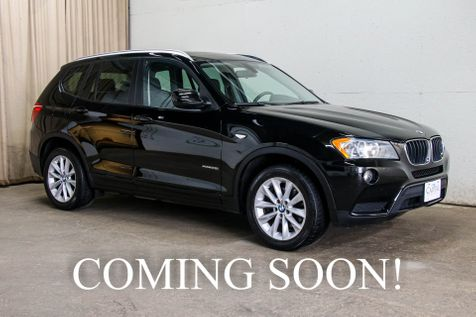 2013 BMW X3 xDrive28i All Wheel Drive Crossover w/Heated Seats, Panoramic Moonroof & Hi-Fi Audio in Eau Claire