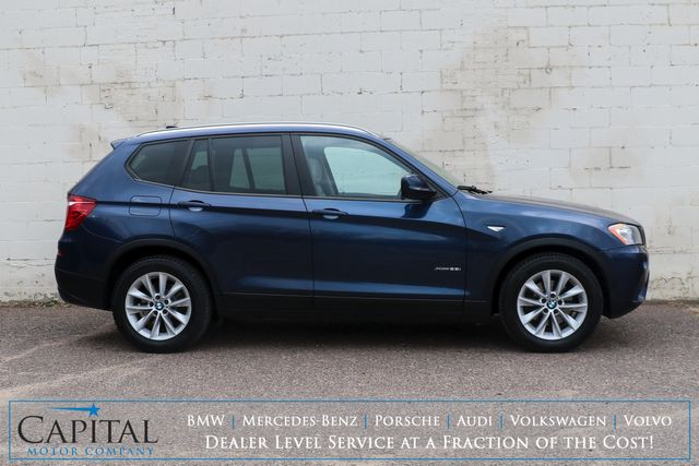 2013 BMW X3 xDrive28i AWD w/Technology Pkg, Nav, Panoramic Roof, Heated Seats & B.T. Audio in Eau Claire, Wisconsin 54703