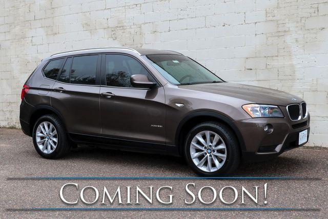 2013 BMW X3 xDrive28i AWD Luxury-Sport SUV w/Tech Pkg, Nav, Panoramic Roof, Heated Seats & Bluetooth Audio