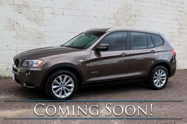 2013 BMW X3 xDrive28i AWD Luxury-Sport SUV w/Tech Pkg, Nav, Panoramic Roof, Heated Seats & Bluetooth Audio in Eau Claire, Wisconsin 54703