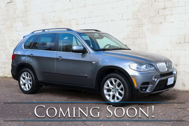 2013 BMW X5 xDrive35d AWD Clean Diesel w/Nav, Backup Cam, Heated Seats, Panoramic Roof & Bluetooth Audio