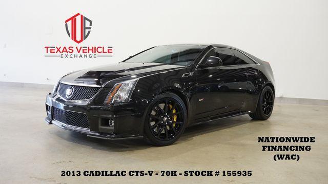 2013 Cadillac CTS-V Coupe AUTO,ROOF,NAV,BACK-UP,RECARO,BLACK WHLS,70K