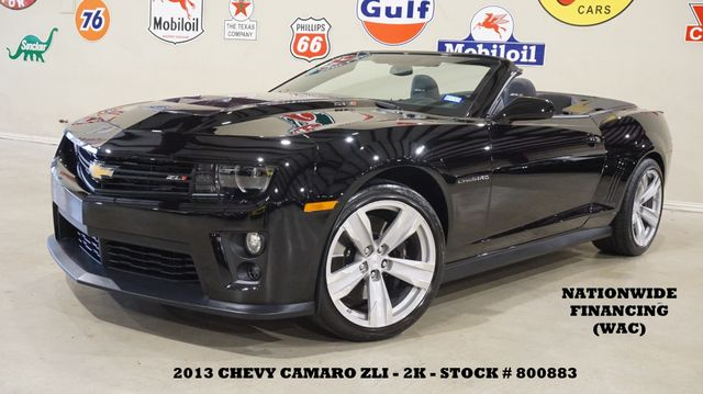 2013 Chevrolet Camaro ZL1 Convertible AUTO,HUD,BACK-UP CAM,HTD LTH,2K!