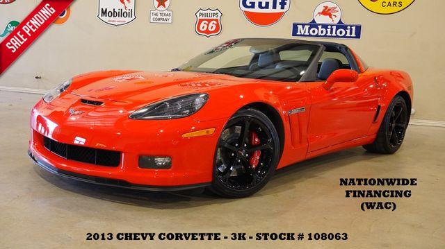 2013 Chevrolet Corvette Grand Sport 3LT Coupe,6 SPD,HUD,NAV,HTD LTH,3K