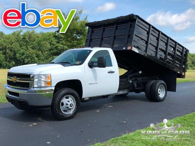 2013 Chevrolet Silverado 3500 4X4 RCAB LANDSCAPE DUMP 1-OWNER ONLY 59K MILES
