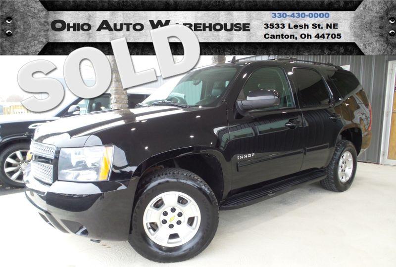 2013 Chevrolet Tahoe LT 4x4 Tv/DVD Sunroof 3rd Row Leather We Finance | Canton, Ohio | Ohio Auto Warehouse LLC in Canton Ohio