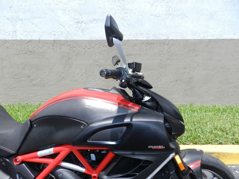 2013 Ducati Diavel Carbon Red Only 3865 miles 30 Warranty  city Florida  MC Cycles  in Hollywood, Florida