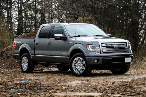 2013 Ford F-150 Platinum 4-Door Supercrew 4x4 w/Navigation, Heated/Cooled Seats, Sony Audio & 20