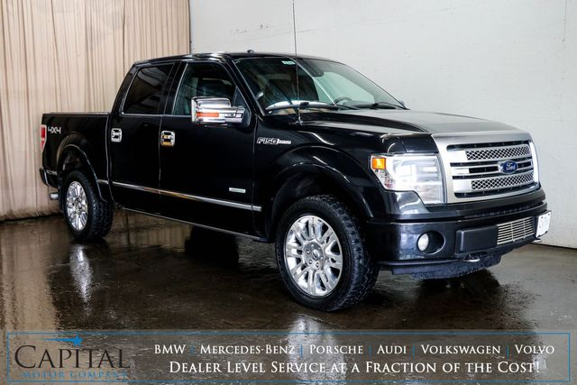 """2013 Ford F-150 Platinum Crew Cab 4x4 w/ECOBoost V6, Nav, Heated/Cooled Seats, Moonroof & 20"""" Wheel Pkg in Eau Claire, Wisconsin 54703"""