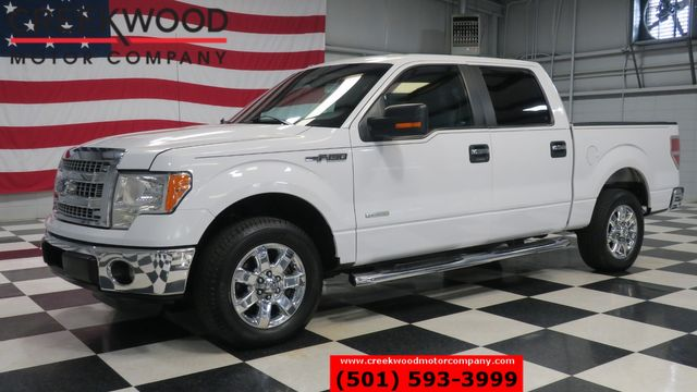 2013 Ford F-150 XLT 2WD Crew Cab EcoBoost White Low Miles Chrome
