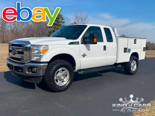 2013 Ford F-350 Ext Cab 4x4 1-OWNER 6.7L DIESEL UTILITY SERVICE TRUCK LOW MILES