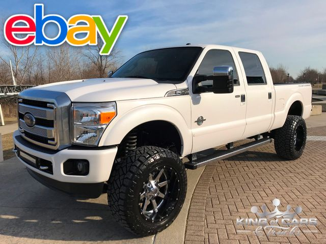 2013 Ford F250 Crew Platinum 6.7L DIESEL 4X4 49K MILES LIFTED MINT