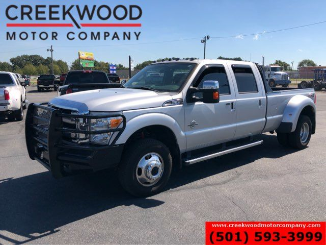 2013 Ford Super Duty F-350 Lariat 4x4 Diesel Dually Silver Nav Sunroof CLEAN