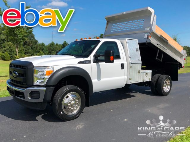 2013 Ford F550 4x4 V10 Mason DUMP L-PACK BOX 1-OWNER ONLY 72K MILES