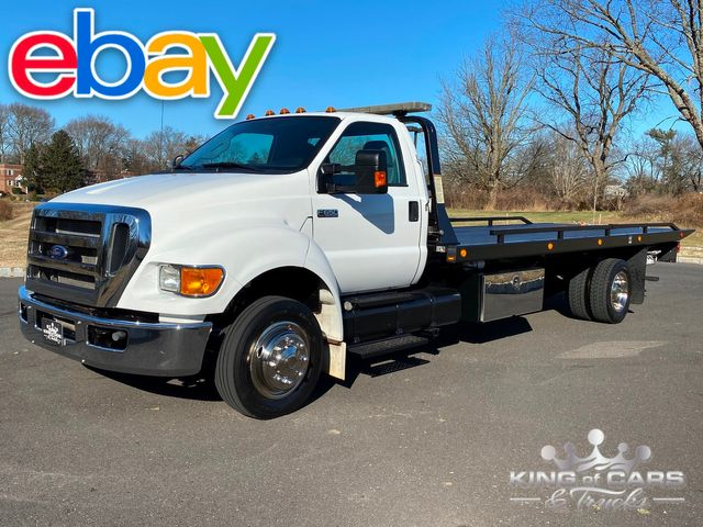 2013 Ford F650 Cummins Diesel 2CAR ROLLBACK 1-OWNER 89K MILES 21' BED