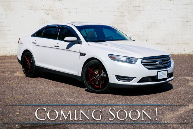 2013 Ford Taurus SEL Sport Sedan w/Touchscreen Infotainment, Heated Seats, Power Moonroof, and Remote Start