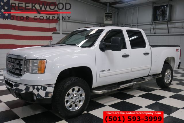 2013 GMC Sierra 2500HD SLE 4x4 Z71 Diesel Allison White Leather Chrome