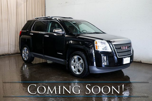 2013 GMC Terrain SLT Crossover w/Backup Cam, Moonroof, Heated Seats, Touchscreen INFOtainment & Hitch