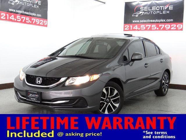 2013 Honda Civic EX, LEATHER SEATS, BACKUP CAM, SUNROOF