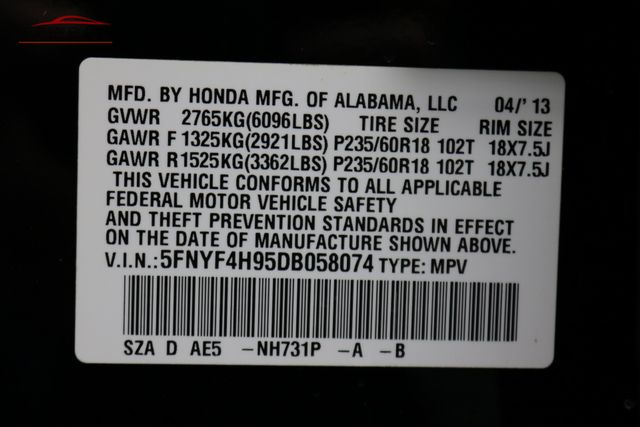 2013 Honda Pilot Touring Merrillville, Indiana 50