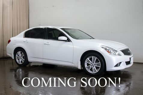 2013 Infiniti G37x AWD Luxury-Sports Car w/Navigation, Heated Seats, Moonroof, BOSE Audio & Premium Pkg in Eau Claire