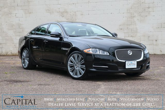 2013 Jaguar XJ 3.0 AWD Supercharged Luxury Car w/Nav, Panorama Roof, Heated/Cooled/Massage Seats & Meridian Audio in Eau Claire, Wisconsin 54703