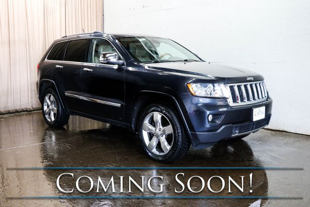 2013 Jeep Grand Cherokee Overland 4x4 w/Nav, Backup Cam, Panoramic Roof, Heated/Cooled Seats & Tow Pkg in Eau Claire, Wisconsin 54703